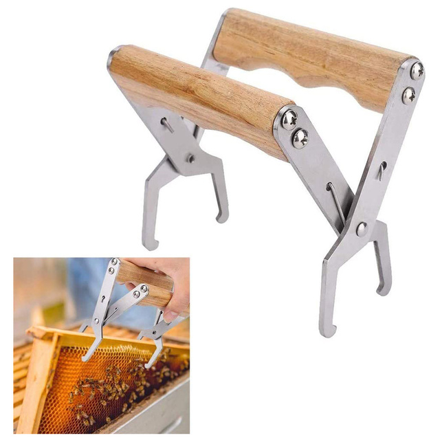 Wooden Bee Hive Frame Holder Grip Tool for Beekeeping 1
