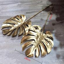 50CM 70CM Künstliche Goldene Palm Blätter Weihnachten Kranz Material Gefälschte Pflanzen Zweig Blume Anordnung Home Decor Zubehör