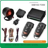 Auto Alarm Fahrzeug System 1-Way Universal Schutz Sicherheit System Keyless Entry Sirene + 2 Fernbedienung Einbrecher
