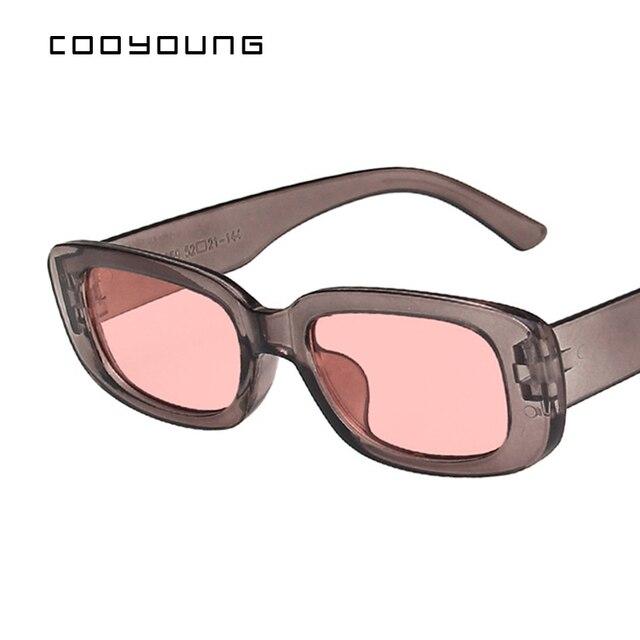 Rectangle Sunglasses- Women Vintage Shades UV400 4
