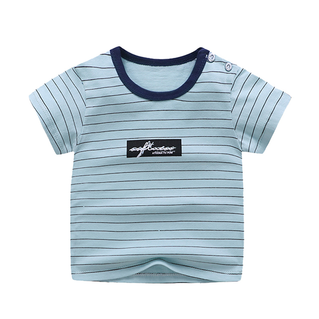 boy's cotton t-shirt blue striped