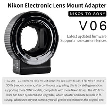 COMMLITE CM-ENF-E1 PRO Electronic Auto-Focus Lens Mount Adapter for Nikon Tamron Sigma F Mount Lens to Sony E Mount Camera(China)
