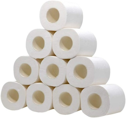 20 rolos de tres camadas de tecido higienico casa banho rolo de papel higienico papel