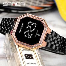 Роскошные женские часы с сенсорным экраном модные цифровые со