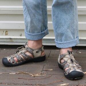 Image 4 - Gritation sandales de plage pour femmes, chaussures dextérieur, respirantes, de Sport, en caoutchouc, légères, de randonnée, décontracté