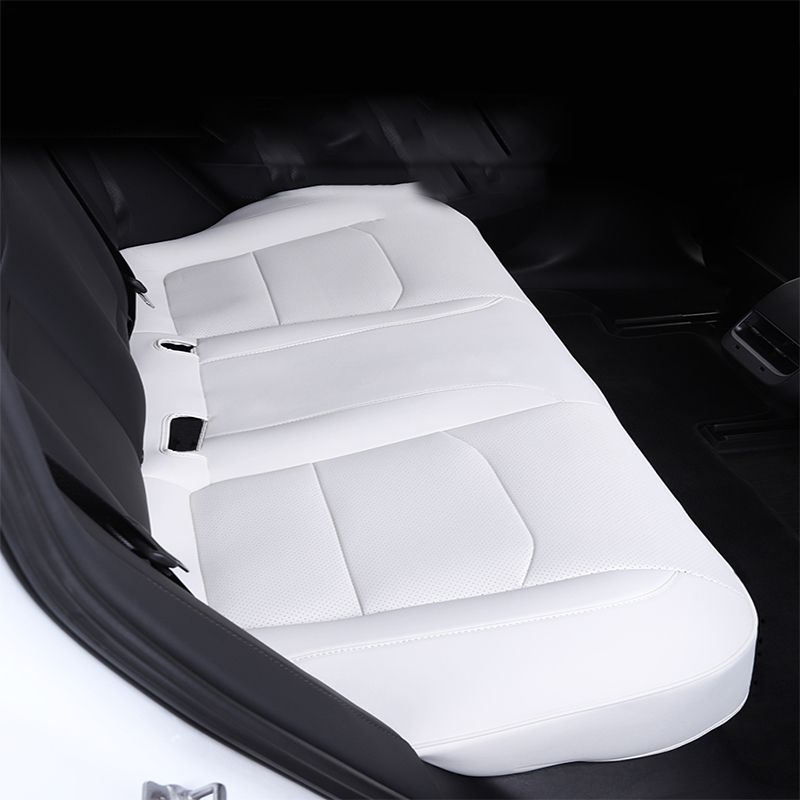 Suitable for Tesla model 3 cushion base three-piece set with breathable hole seat cushion seat cover accessories decoration