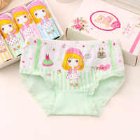 4PCS/LOT New Hot Sale  Kids Panties Girls' Briefs Female Child Cotton Underwear Cartoon Panties Children High Quality Clothing