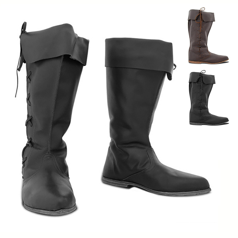 Medieval Travelers Boots For Men Women Norse Viking Earle Larp Cavalier Knight Pirate Wanderer Robin Hood Cosplay Shoes Footwear