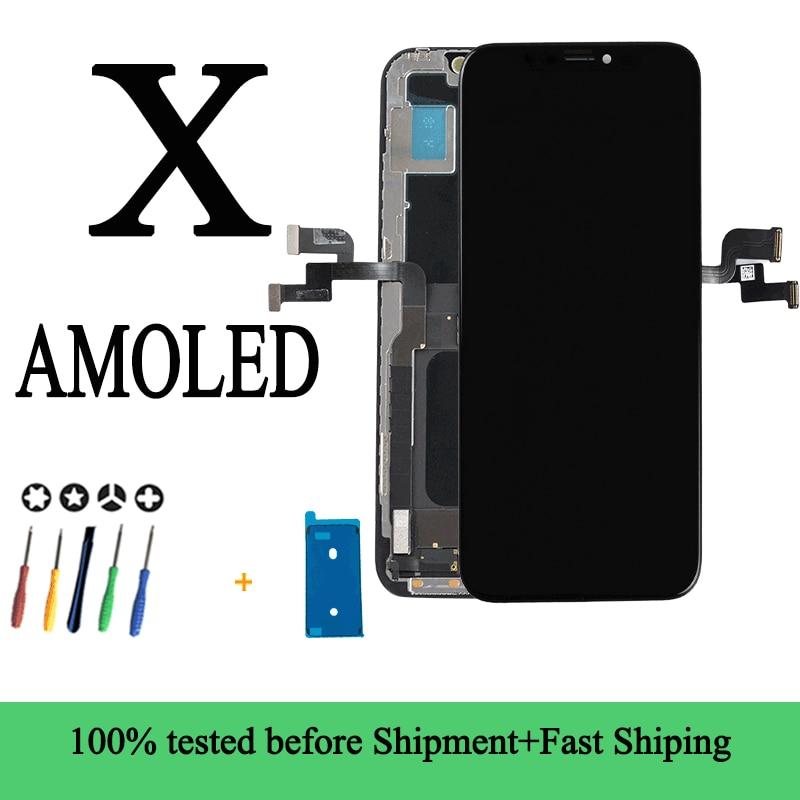 Pantalla táctil Lcd AMOLED de calidad para iPhone X, XS, Buena pantalla táctil Lcd 3D para iPhone X, XS, con herramientas