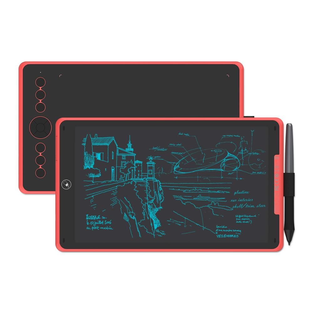 Huion h320m gráfico desenho tablet e lcd digital placa de escrita tablet hadwriting almofada com bateria-livre stylus para android/pc