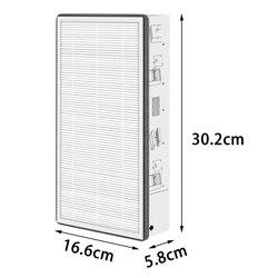 Filtro médio do respiradouro de ar do sistema de ar fresco da substituição para as partículas de filtro de xiaomi MJXFJ-300 seguras e não tóxicas