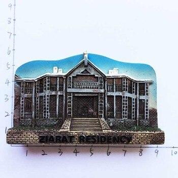 Souvenirs turísticos del castillo de Pakistán, Lahore, arquitectura tridimensional, paisaje, pegatinas magnéticas, refrigeradores, pegatinas