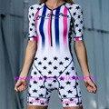Цельный костюм для велоспорта на заказ  костюм для триатлона  женская одежда  Speedsuit Blusas Moda Ciclismo Kit Feminina Trisuit  комбинезон