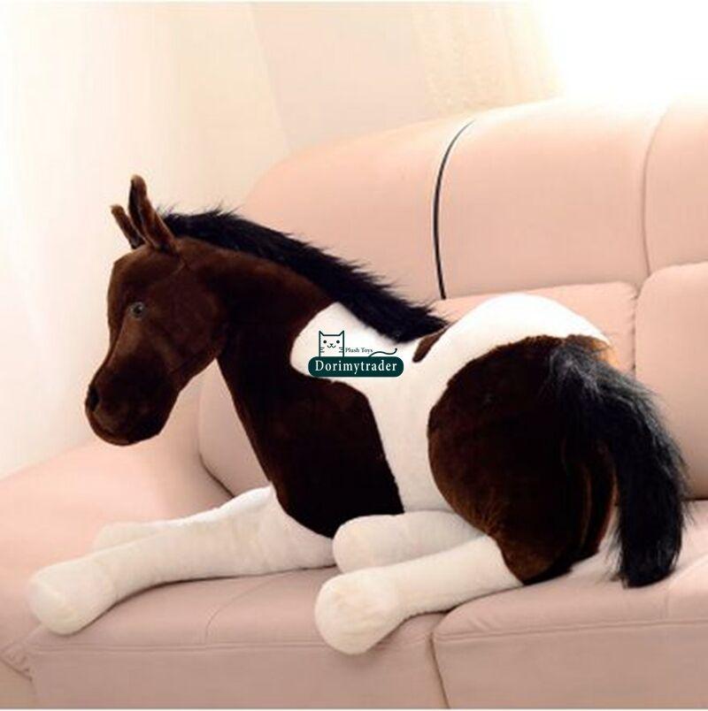 130cm X 60cm Riesen Soft Horse Plüsch Emulational Ausgestopften Tiere Spielzeug Puppe Geschenk Nette Plüsch Spielzeug Stich - 5