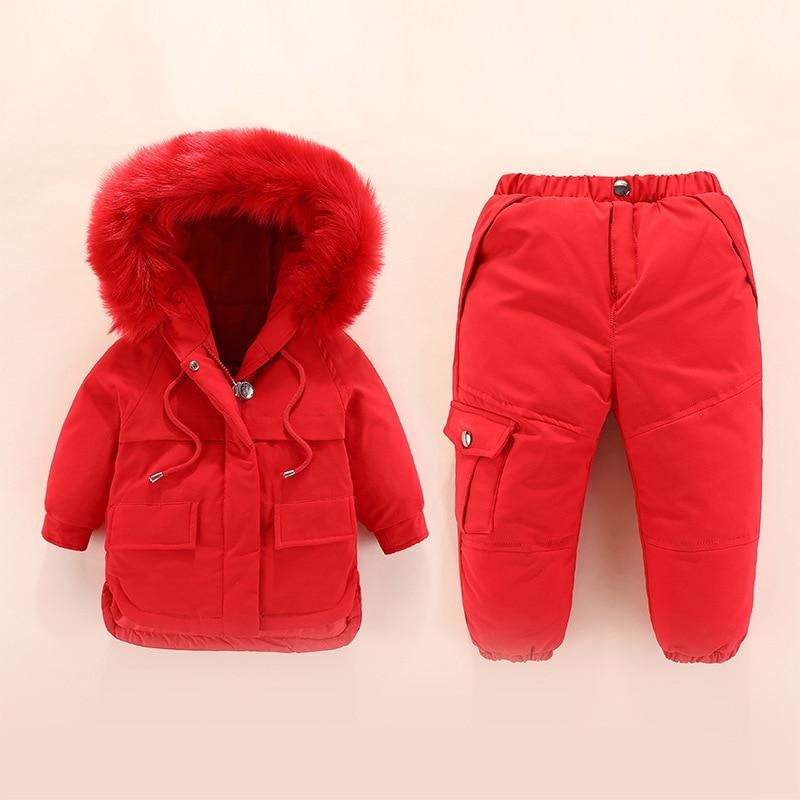 Bébé Snowsuit vers le bas nouveau infantile bambin garçons filles hiver vêtements ensembles neige porter combinaison à capuche veste filles tenues