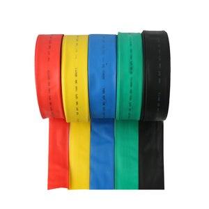 (1 metro/lote) tubos do psiquiatra do calor do preto do diâmetro interno de 60mm/tubulação shrinkable do calor cor: verde amarelo vermelho azul preto