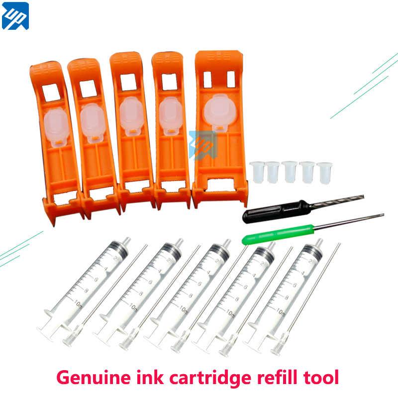 Lebih Tinggi PGI-580 Asli Ink Cartridge Isi Ulang Alat Kit untuk Canon TR7550 TR8550 TS6150 TS6151 TS6250 TS9550 TS9551C Printer 5 Warna