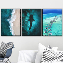 Seascape Posters And Prints Shark Forest Wall Art Canvas Painting  Scandinavian Modular Pictures For Living Room Home Decor