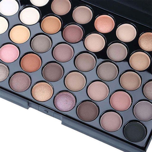40 Colors Shimmer Glitter EyeShadow Palette Waterproof Diamond Nude Matte Eye Shadow Cosmetic Long Lasting Eye Primer Pigment 3
