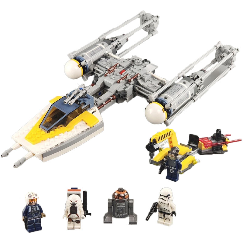 Y wing Starfighter Lepining star wared 691PCS Space fighters building block model 75172 toys Universe figures image