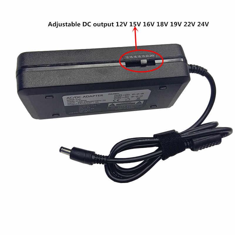 USB 5V 2A tipo-c tapones ajustable 120W AC a DC 12V 15V 16V 18V 19V 22V Universal 24V de suministro de adaptador de corriente adaptador de cargador