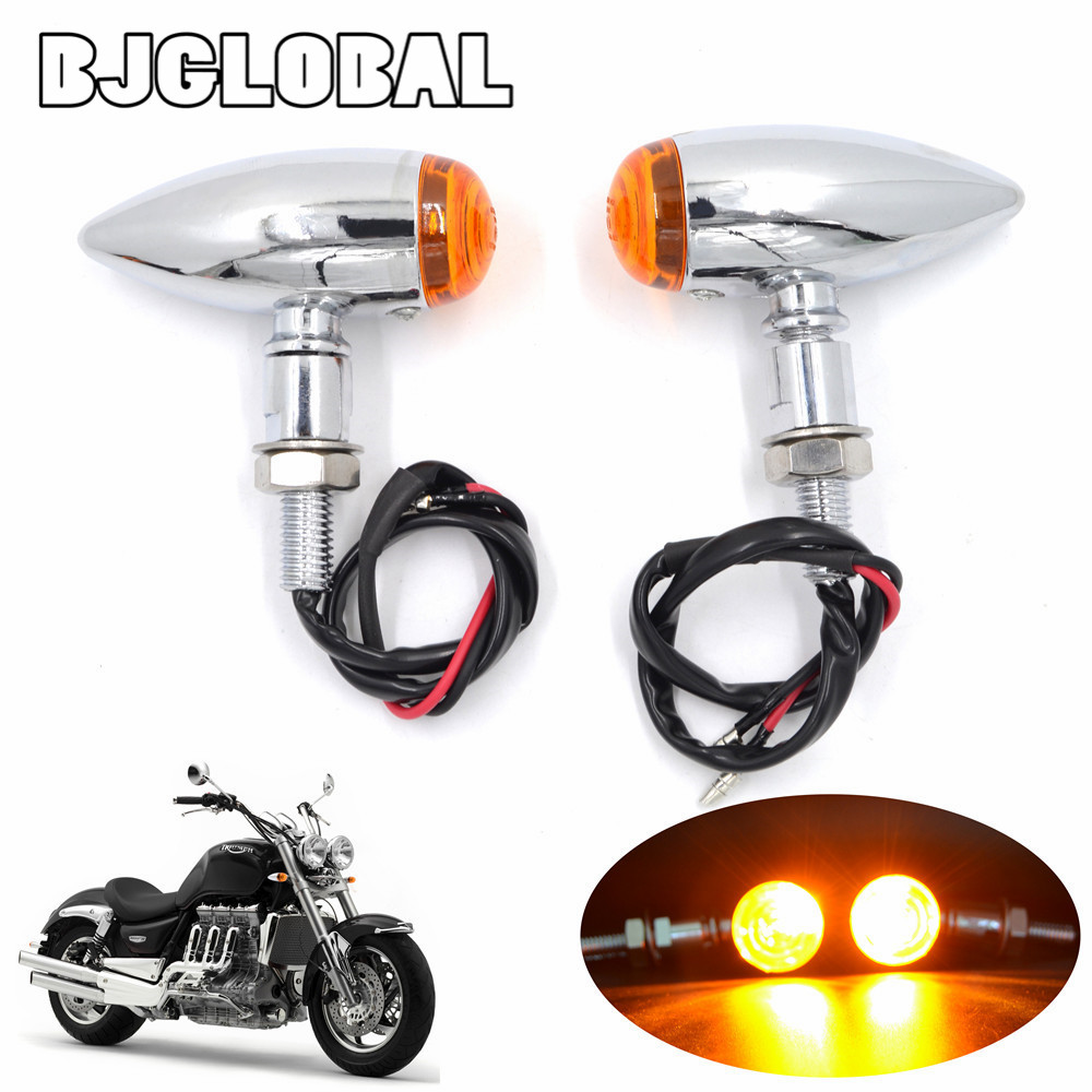 New Motorcycle LED Turn Signal Lights Vintage Indicator Flasher Bullet Blinker For Harley Bobber Chopper Sportster XL Cafe Racer
