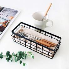 Przyprawy kuchenne puszki przechowywanie rozmaitości małe basketry łazienka pulpit stojak ścienny kosz do łazienki żelaza sztuki proste YHJ121709 tanie tanio Neatening przechowywania Metal iron Ekologiczne