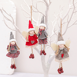 Merry Christmas Decorations For Home Angel Dolls Christmas Tree Decor Ornament Elf Pendant Table Deco Xmas Gift New Year 2021