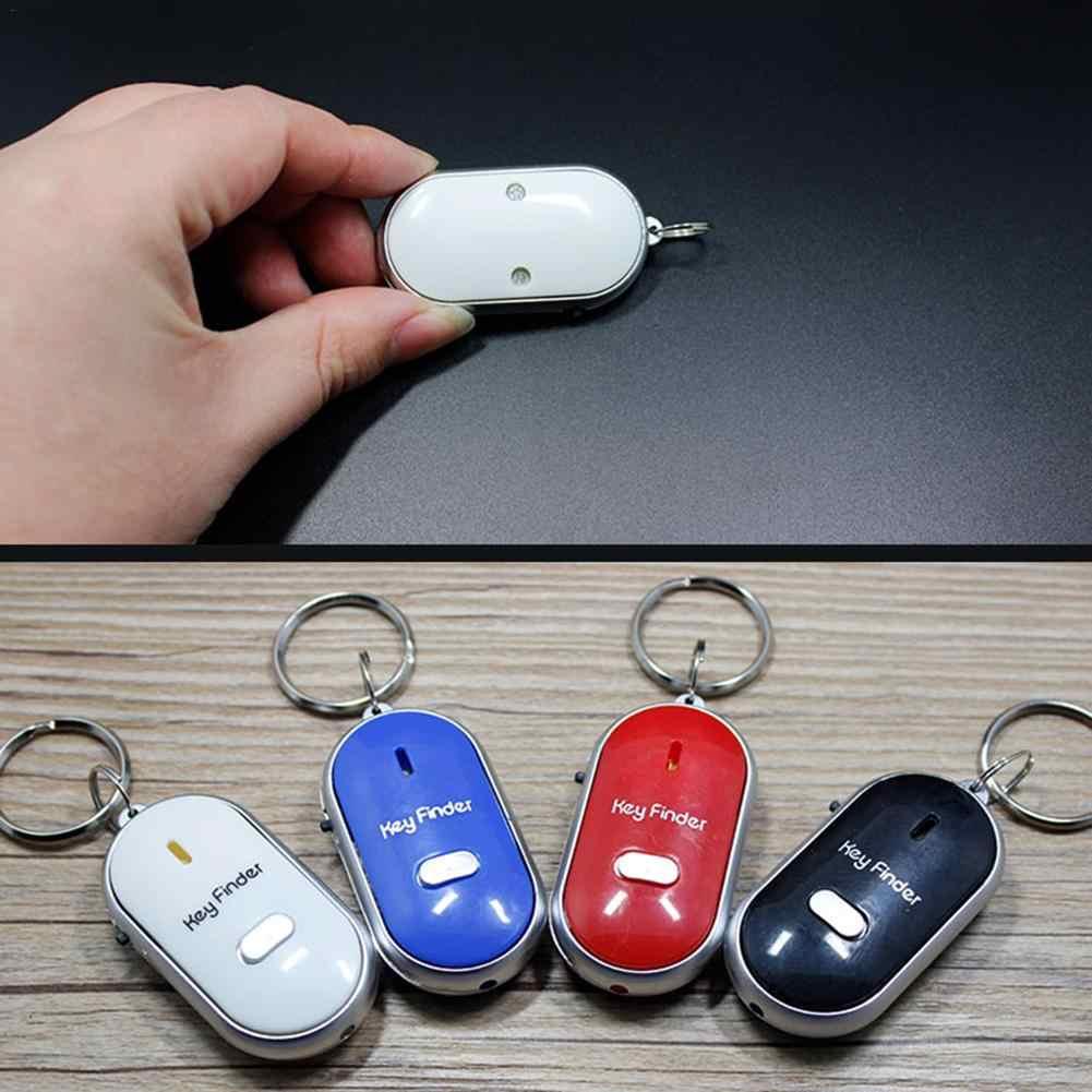 Terbaru Mini Peluit Anti Hilang Pencari Kunci Nirkabel Smart Berkedip Berbunyi Remote Hilang Key Finder Locator Gantungan Kunci dengan Senter LED
