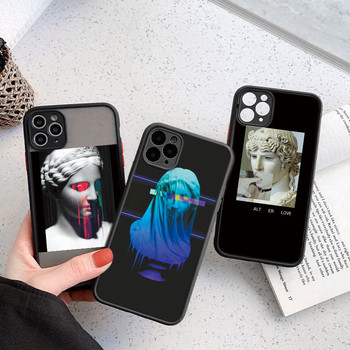 Art Statue Phone Case For iPhone7 8 Plus X XS XR 11 12 Pro Max Mini SE 2020 Abstract Soft TPU+PC Painting Shockproof Back Cover image