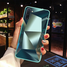 Diamond 3D Mirror Phone Cases for Samsung Galaxy S10 S10E S9 S8 Plus Note 10 Pro 9 8 Cover for A10 A10S A20 A30 A40 A50 A70 Case(China)