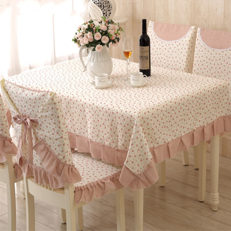 Us 71 2 11 Off 9 Pieces Set Tablecloths With Chair Covers Mats Embroidered Tablecloth Linen For Table Wedding Home Coffee Cloth Cover In