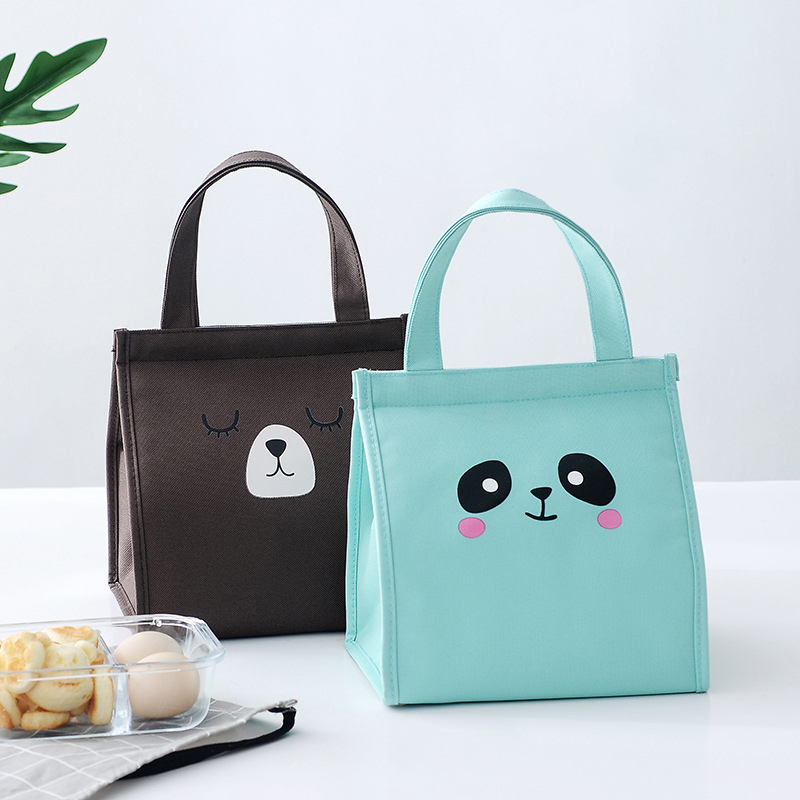 Hot Student Breakfast Lunch Box Cooler Bag Oxford Cloth Isothermal Insulation Cold Picnic Bags Children Snack Food Thermal Pouch