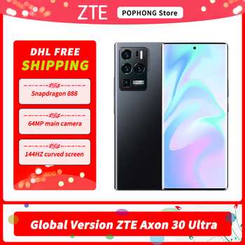 DHL Free Global Version ZTE Axon 30 Ultra 5G Mobile Phone 6.67 Inch AMOLED Screen Snapdragon 888 Octa Core 65W Fast Charging 1