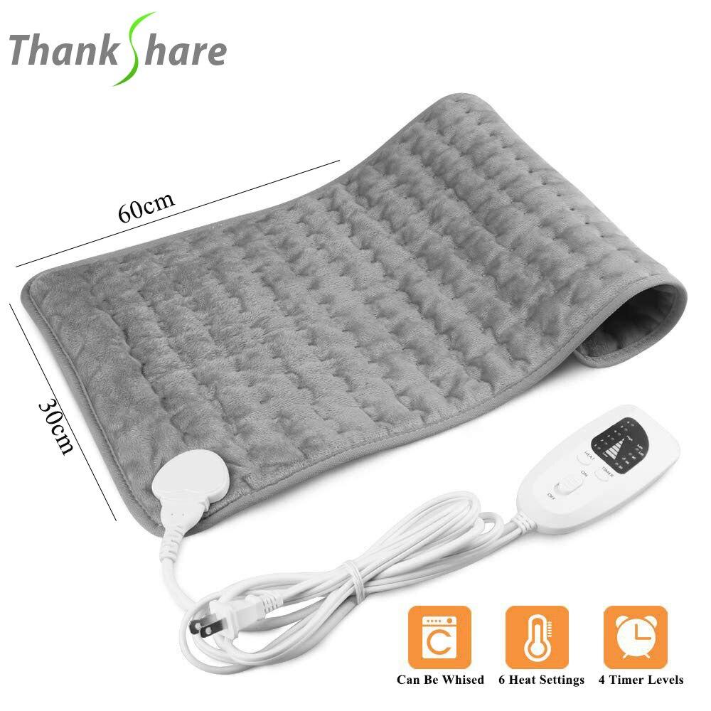 Thankshare almofada de aquecimento elétrico cobertor temporizador fisioterapia almofada de aquecimento para o ombro pescoço volta coluna perna alívio da dor inverno quente
