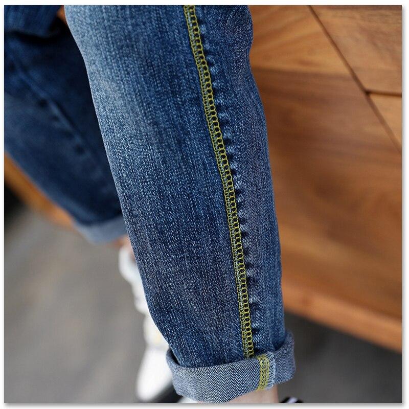 calças de brim retas clássico crianças calças