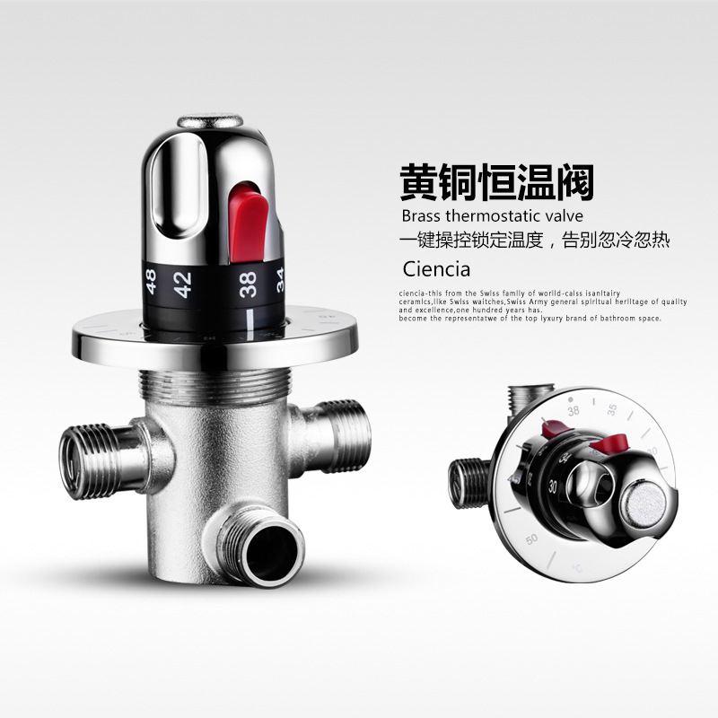 Mix Water CTM504 Chrome Thermostatic Valve With The Shower Solar Copper Thermostatic Valve Shower Faucet