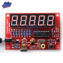 Probador de frecuencia de oscilador de cristal de alta precisión, Kit de bricolaje de 5 dígitos, módulo medidor de frecuencia Digital LED de 1Hz-50MHz