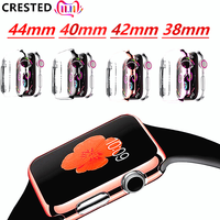 Case cover For Apple Watch band apple watch 5 4 3 case 42mm 38mm appel watch iwatch 4 3 2 1 44 mm/40mm Screen protector cover