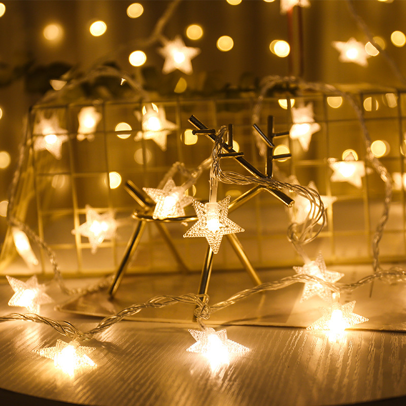 10 LED / 20 LED Garland Star Light String Twinkle Garland Battery Powered Christmas Lamp Holiday Wedding Decorative Fairy Lights