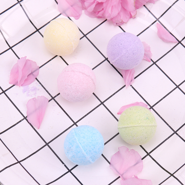 1PC Organic Bath Salt Body Essential Oil Bath Ball Body Skin Whitening Ease Relax Stress Relief Natural Bubble Bath Bombs Ball 5