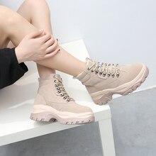 Женские бархатные повседневные кроссовки с высоким берцем; Легкие теплые женские ботинки; обувь Martin