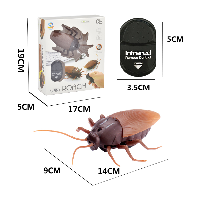 Electric Toy Halloween Gift Infrared RC Remote Control Animal Toy Kit For Kids Adults Smart Cockroach Spider For Halloween Toy