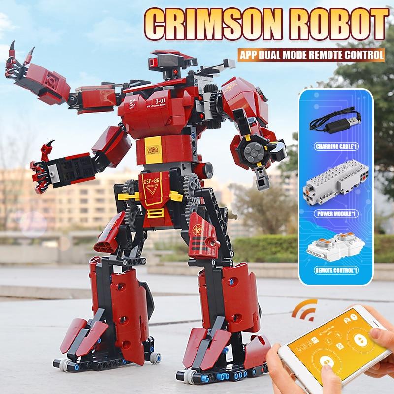 MOULD KING 15038 APP RC Controlled Motorized Crimson Robot