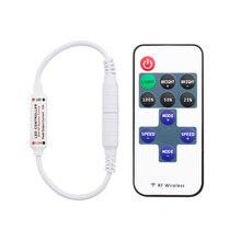 12 24 V 11 Keys RF LED şerit uzaktan kumanda Mini Dimmer RF DC 5V 12V 24 V led uzaktan kumanda için LED 5050 2835 şerit tek