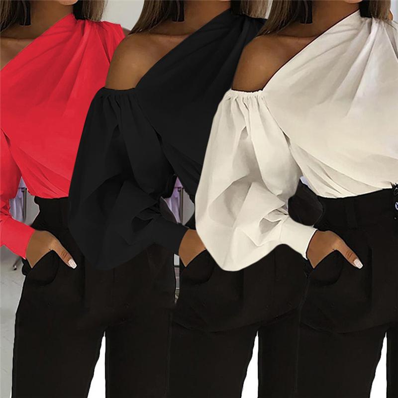 Sexy Off Shoulder Women Office Shirts Celmia Fashion Long Sleeve Blouse Casual Loose Tops Lady Elegant Blusas Plus Size Femme