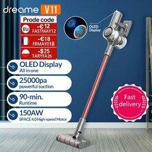DREAME – Aspirateur sans fil portable modèle V11 affichage OLED,25kPa tout en un dépoussiéreur sol nettoyeur de tapis