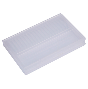 Image 4 - ברור פלסטיק נייל מקדחי אחסון תיבת תצוגת Stand 20 חריצים 14 חריצים ארגונית מקרה מיכל מקצועי מניקור כלים