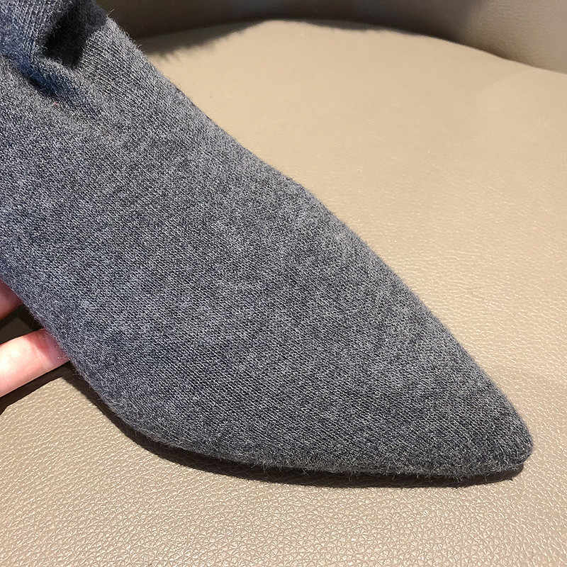 MORAZORA/2020 г. Хит продаж, облегающие высокие сапоги женские Вечерние туфли на высоком каблуке с острым носком женские эластичные носки