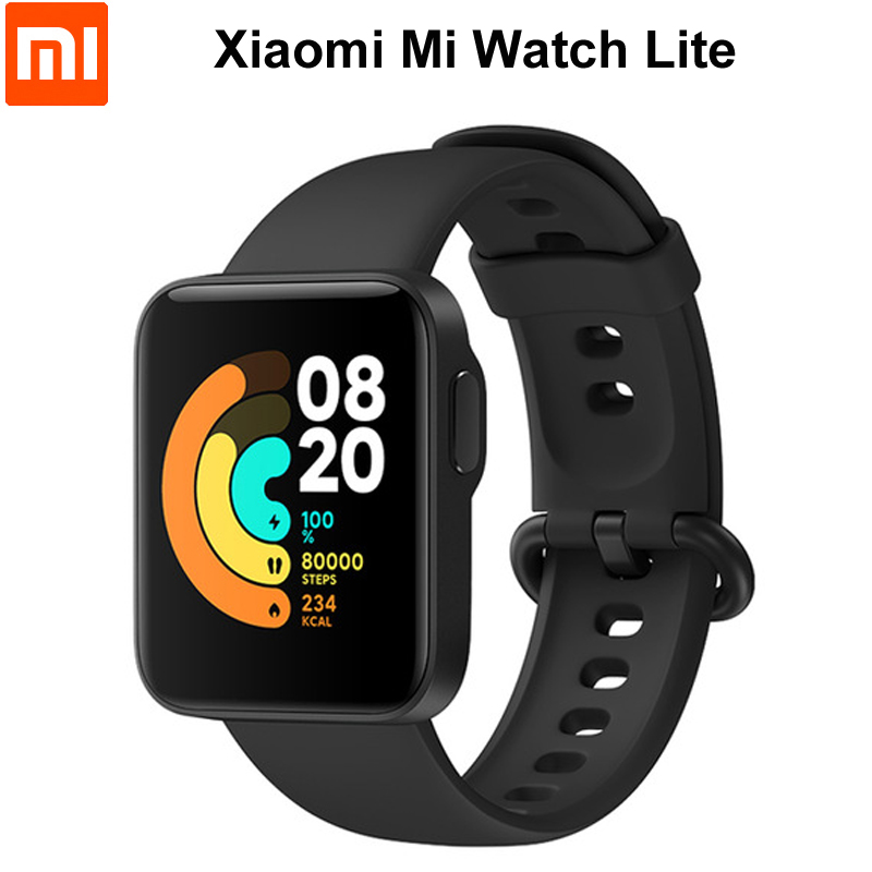 Original Smartwatch Xiaomi Mi Watch Lite GPS Bluetooth 5.1 Smart Watch 5ATM Heart Rate/Sleep Monitor 1.4inchTFT Color Display